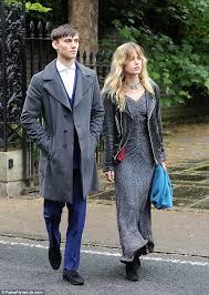 georgia may jagger in billowing maxi dress with boyfriend josh