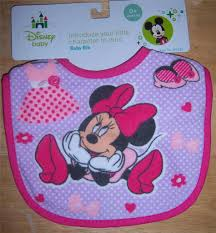 disney mickey mouse minnie mouse or pluto bib baby shower