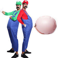 Super Mario Halloween Costume Men Super Mario Lugi Plumber Bros Fancy Dress Halloween Costume