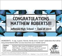 personalized graduation invitations candy graduation party favors