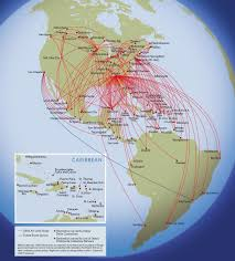 Allegiant Route Map by Airline Timetables January 2009