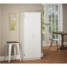 2 Door Pantry Cabinet Systembuild Furniture Double Door Storage Pantry By Ameriwood
