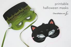 printable halloween masks for kids everyday dishes