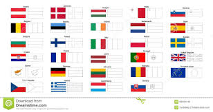 Flags Countries Coloring Pages European Flags Countries
