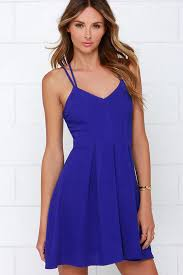 royal blue dress pretty royal blue dress sleeveless dress strappy dress 44 00