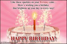 a sparkling birthday wish free specials ecards greeting cards