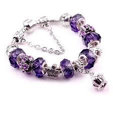 snake chain charm bracelet images Online store leobeads purple amethyst murano glass crystal jpg