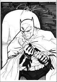 batman sketch in matt brasier u0027s lee jim comic art gallery room
