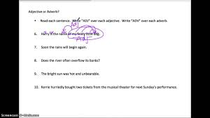 adjective and adverb notes and examples youtube