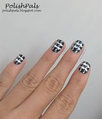 polish pals houndstooth nails