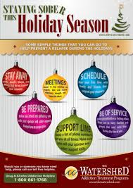 staying sober during the holidays infographic the watershed