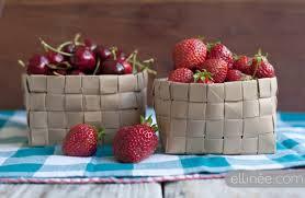 how to make fruit baskets diy paper fruit basket the elli