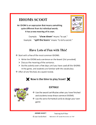 Lots Of Fun Meaning Figurative Language Scoot Gr 3 4 5