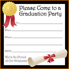 8 free printable graduation invitations budget template