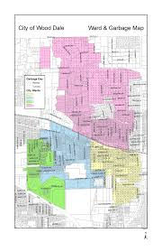 Illinois Map Of Cities by Ward And Garbage Map City Of Wood Dale Il