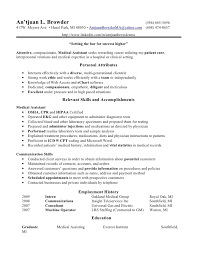 Free Resume Example by Medical Assistant Resume Template Free Template Design