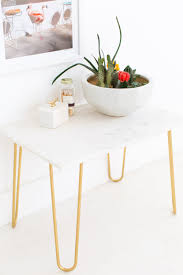 Marble Coffee Table Diy Marble And Gold Accent Table Sugar U0026 Cloth
