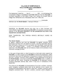 Reference Template For Landlord 40 Hold Harmless Agreement Templates Free Template Lab