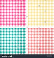 picnic table cloth color square plaid stock vector 608969408