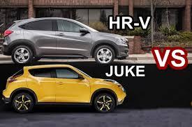 nissan juke 2018 benim otomobilim 2015 nissan juke vs 2016 honda hr v visual