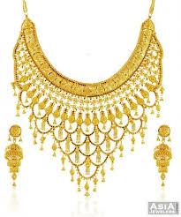 gold necklace patterns images 22k bridal necklace set ajns58434 beautiful 22k gold designer jpg