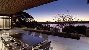 resort style home overlooking perth u0027s swan river this low slung