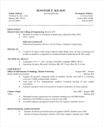 Sample Resume For Experienced Assistant Professor In Engineering College by Computer Science Resume Template 7 Free Word Pdf Document