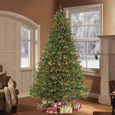 puleo 7 5 ft pre lit fraser fir artificial tree with