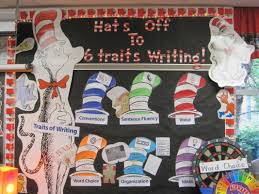 cat in the hat writing paper 6 traits of writing professional development by smekens hats off to 6 traits of writing bulletin board