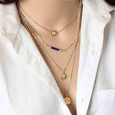 layer necklace images Modern 3 multi layer necklace freedom look jpg