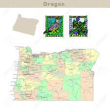 Oregon Map Usa by Usa States Series Oregon Political Map With Counties Roads