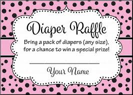 diaper raffle tickets for baby shower ladybug baby shower theme