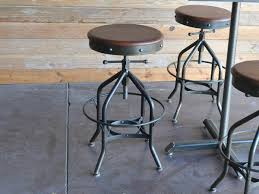 drafting bar stool antique industrial toledo reproduction bar stool pub or throughout