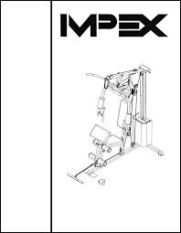 impex home gym wm 1505 user guide manualsonline com