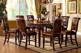 Round Formal Dining Room Tables Furniture Archaicfair Counter Height Dining Table Standard Round