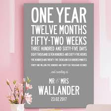 1st year wedding anniversary year wedding anniversary personal print