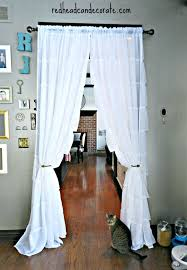 Doorway Privacy Curtains Doorway Privacy Curtains Hanging Curtains In Our Kitchen Save Tons