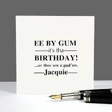 yorkshire dialect u0027 birthday card by betsy jarvis