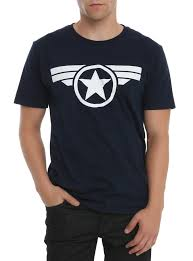 captain america spirit halloween marvel captain america the winter soldier logo t shirt topic