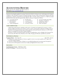 Best Canadian Resumes by Accounting Resume Template Berathen Com