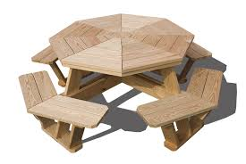 Build Your Own Octagon Picnic Table by Tables Jim U0027s Amish Structures
