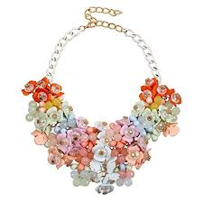 coloured flower necklace images Colorful statement necklaces jpg