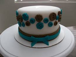 brown and blue buttons baby shower cake lovebug u0027s edible designs