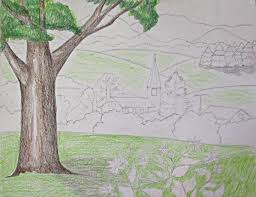 color pencil landscape drawing ava360