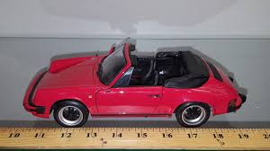 porsche carrera red 1 18 1983 porsche 911 carrera cabriolet red with black interior by