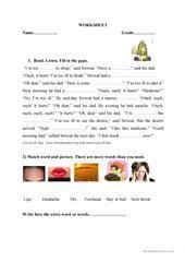health problems quiz worksheet free esl printable worksheets