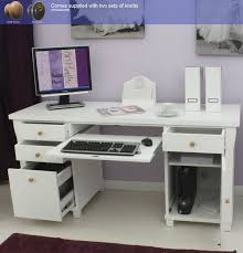 Minimalist Desktop Table by Lovable Computer Desk In White With White Glass Computer Desk Pc