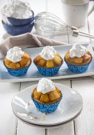 pineapple upside down cupcakes with whipped coconut cream the