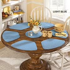 tablemats are important and define the sitting eating area for the