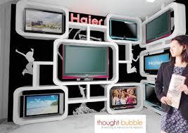 display tv tv display unit in tv showroom gharexpert